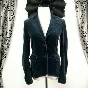 Theory Velvet Navy Blue Blazer Jacket